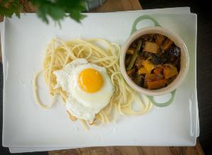 Stoofgroenten met pasta